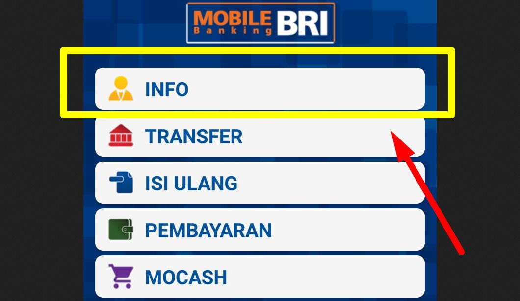 Gambar 2 - Cara cek saldo BRI melalui HP pakai mobile banking
