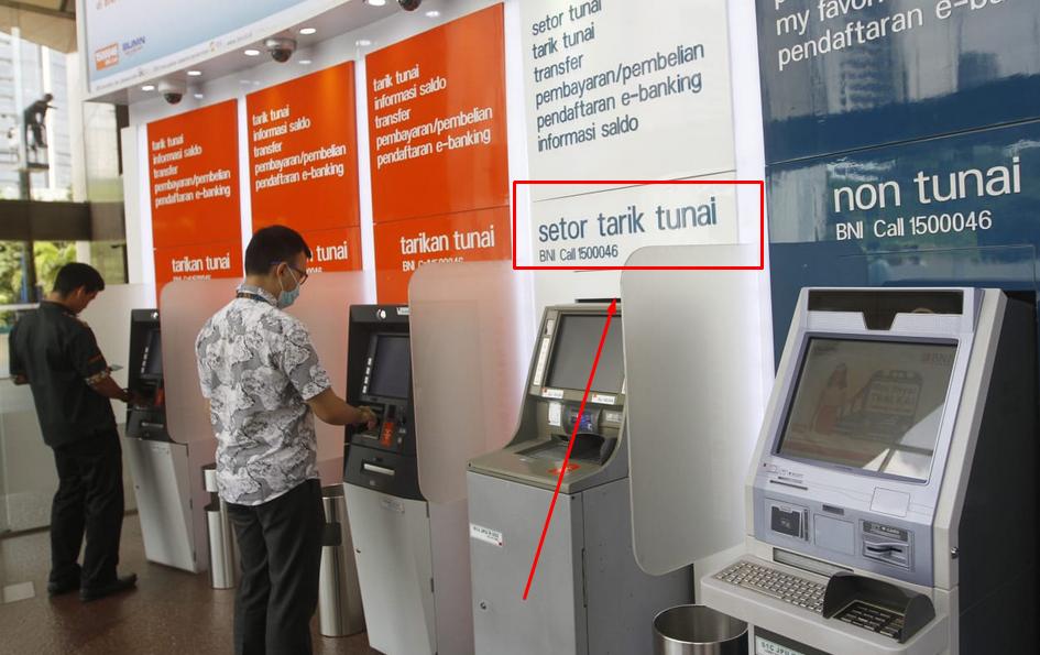 Gambar 2 - Cara setor tunai di ATM BNI terdekat yang mudah dan aman