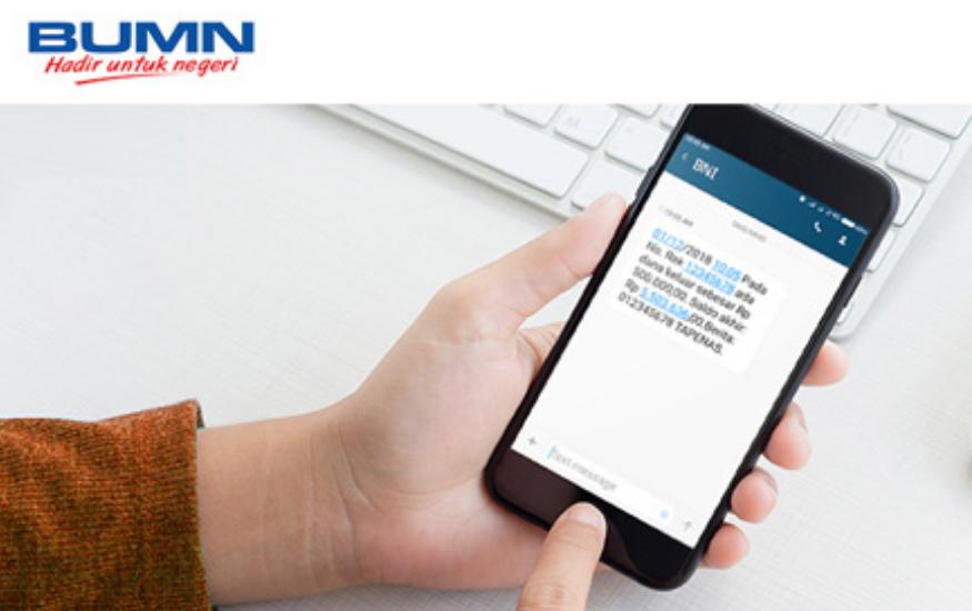 Gambar 2 - Cek saldo BNI lewat HP SMS banking