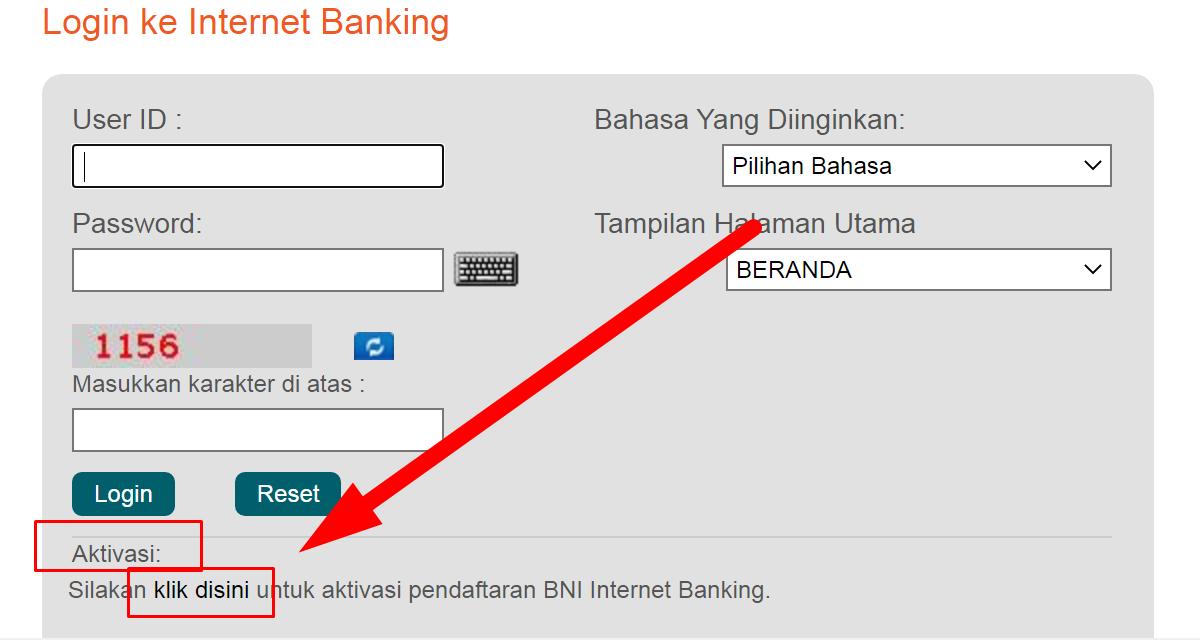 Gambar 3 - Cara mengaktifkan internet banking BNI hingga sukses login
