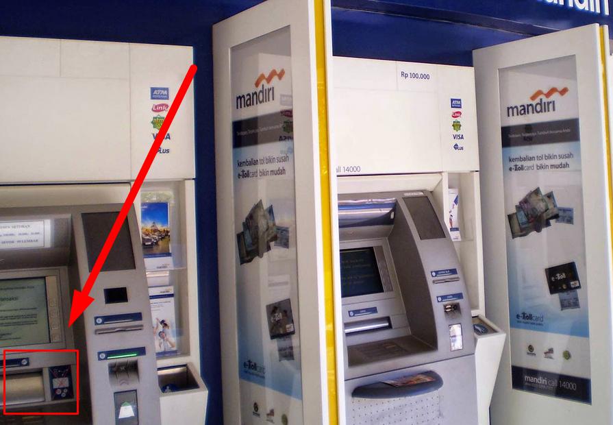 Gambar 1 - Penyetoran hanya dapat dilakukan melalui mesin ATM Setoran Tunai