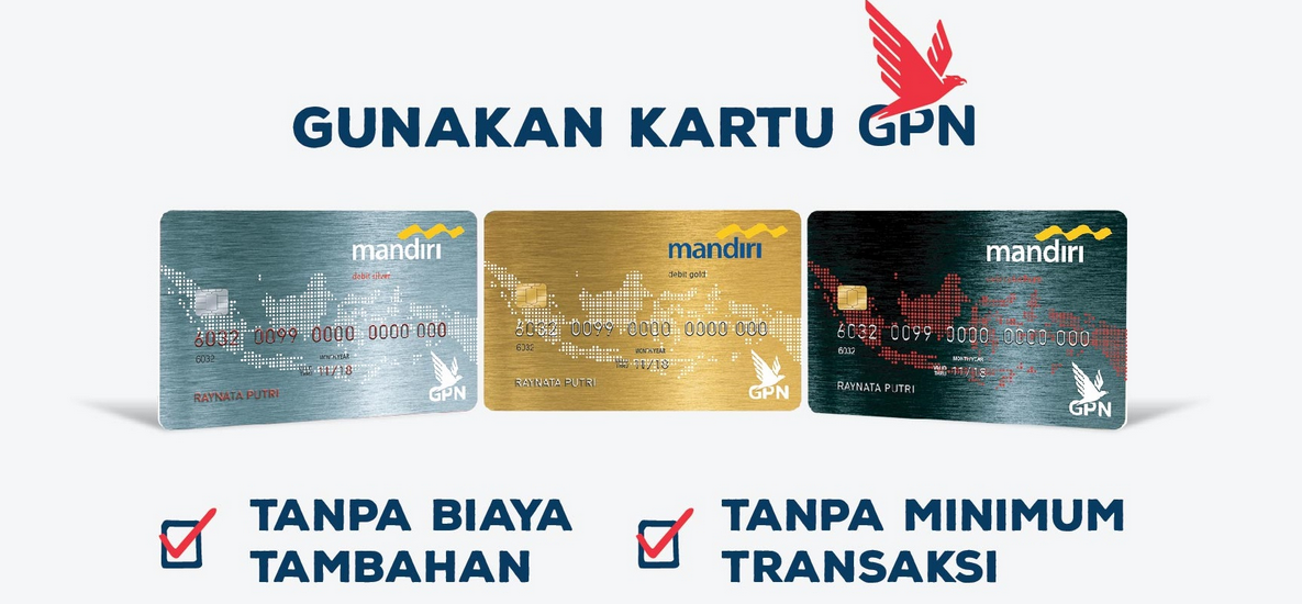 Gambar 3 - Jenis kartu ATM mandiri GPN